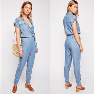 NWT Free People Etienne Marcel chambray jumpsuit